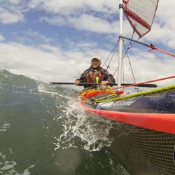 Douglas Wilcox kayak sailing