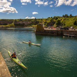 Ronnie and Simon of KCS paddling Stonehaven