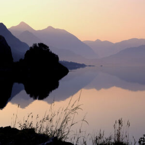 Kintail, Loch Duich and Kintail Mountains at dawn